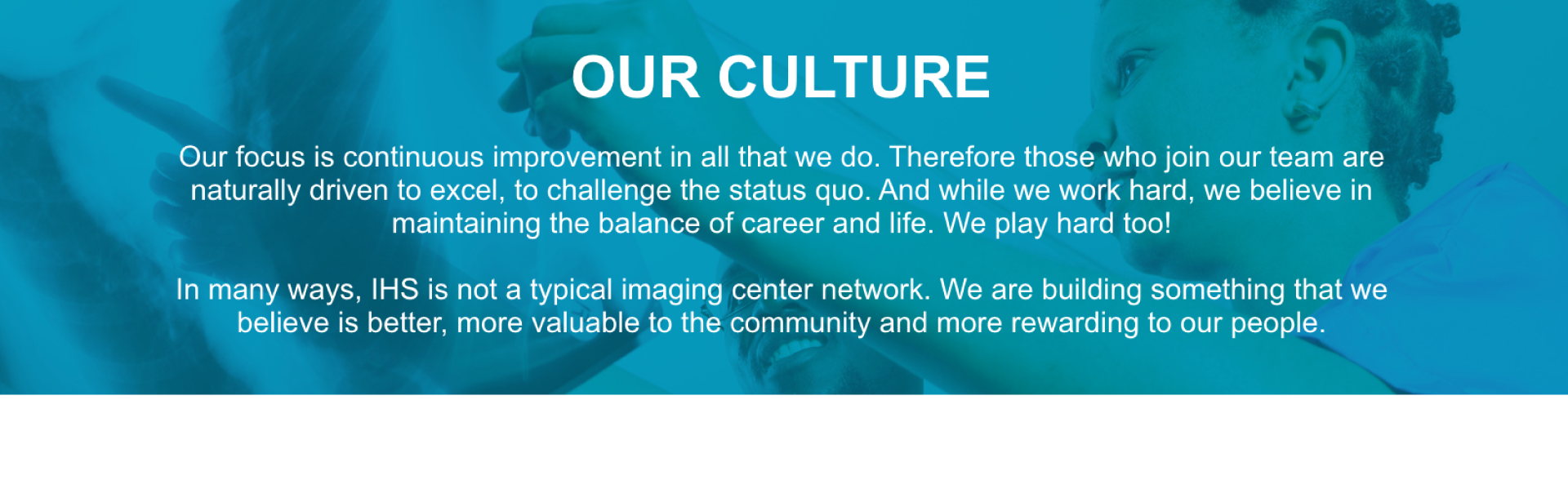 Our Culture at Imaging Healthcare Specialists